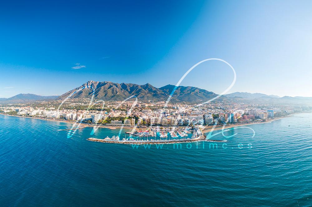 aerial Marbella panorama